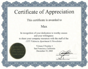 Recognition Of Service Certificate Template (6) Templates Pertaining To Free Recognition Of Service Certificate Template