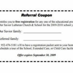 Referral Certificate Template In 2020 | Coupon Template With Referral Certificate Template