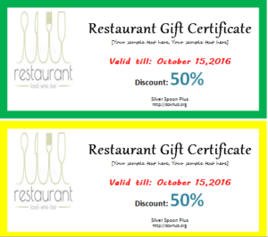 Restaurant Gift Certificate Template For Word | Document Hub Inside Restaurant Gift Certificate Template