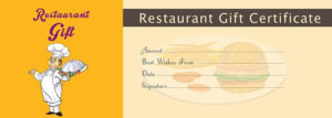 Restaurant Gift Certificate Template Free Gift Certificate Intended For Best Restaurant Gift Certificate Template