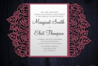 Roses Laser Cut Wedding Invitation, 5X7 Gate Fold Card In Quality Silhouette Cameo Card Templates
