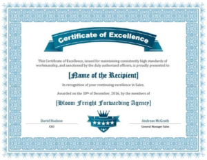 Sales Certificate Template (3) | Professional Templates For 11+ Sales Certificate Template