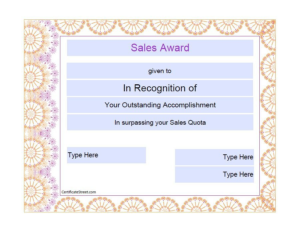 Sales Certificate Template (6) | Professional Templates Regarding Sales Certificate Template