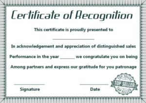 Sales Certificate Template (8) Templates Example Intended For 11+ Sales Certificate Template