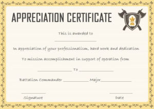 Salvation Army Certificate Of Appreciation Template Sumo Intended For Army Certificate Of Appreciation Template