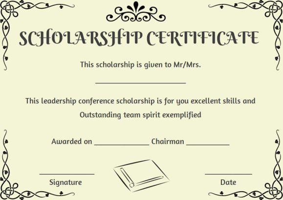 Scholarship Recipient Certificate Template | Certificate Inside Quality Scholarship Certificate Template Word