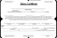 Share Certificate Template | Certificate Templates, Stock Within Best Template Of Share Certificate