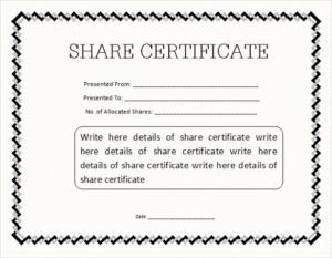 Share Certificate Template Pdf (8) Templates Example Inside Template Of Share Certificate