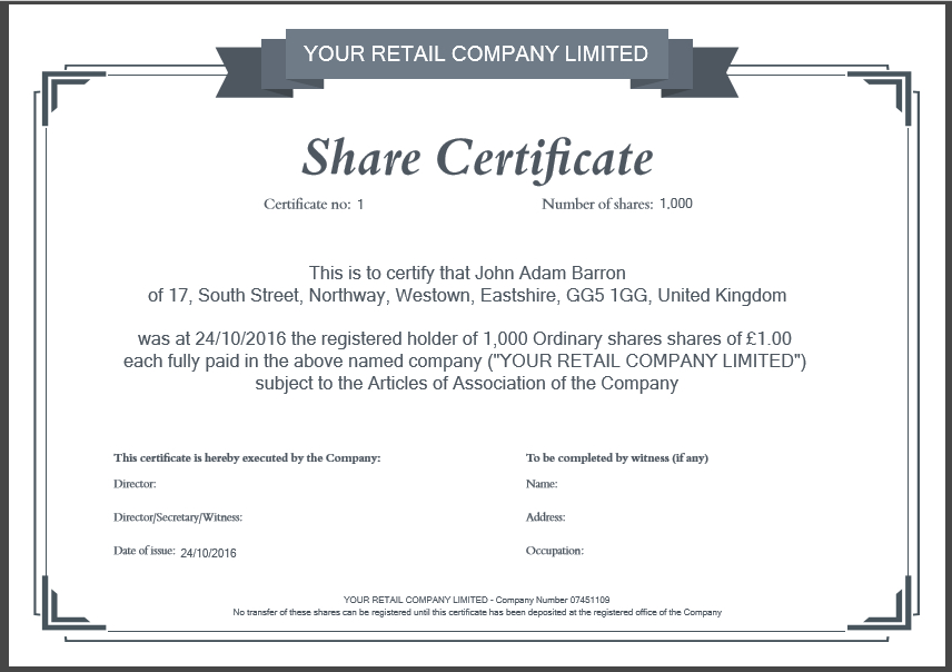 Share Certificate Template: What Needs To Be Included Inside Best Template Of Share Certificate