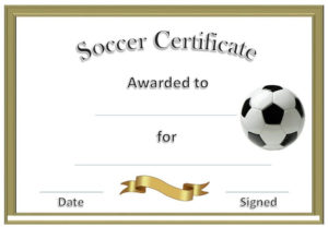 Soccer Award Certificates   Soccer Awards, Soccer Pertaining To Soccer Certificate Template