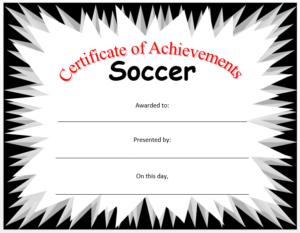 Soccer Certificate Template Microsoft Word Templates Throughout Soccer Certificate Templates For Word