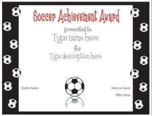 Soccer Certificate Templates | Activity Shelter Within Best Soccer Certificate Template
