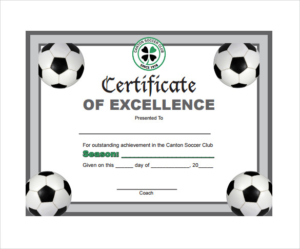 Soccer Certificate Templates For Word 1 Best Templates Pertaining To Soccer Certificate Templates For Word