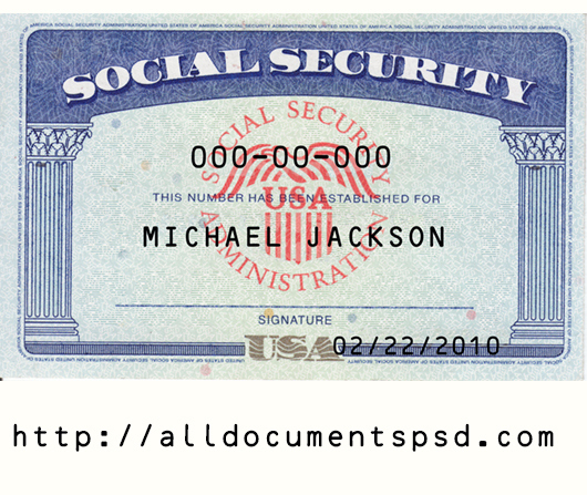 Social Security Card Template Psd | Only $25 With Regard To Free Blank Social Security Card Template Download