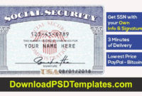 Social Security Card With My Own Information In 2020 | Card Throughout 11+ Fake Social Security Card Template Download