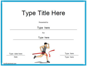 Sports Certificates Running Award Certificate Template With Regard To Running Certificates Templates Free