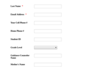 Student Information And Parent Contact Form Template | Jotform Intended For Student Information Card Template
