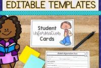 Student Information Cardsamy Murray Teaching Intended For Student Information Card Template