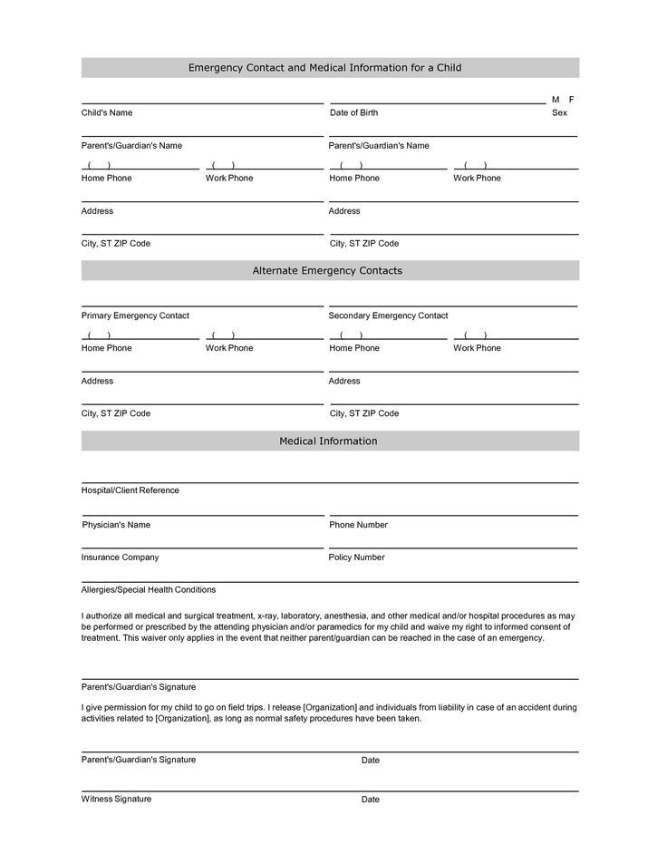 Student Information Sheet | Emergency Contact Form Throughout Free Student Information Card Template