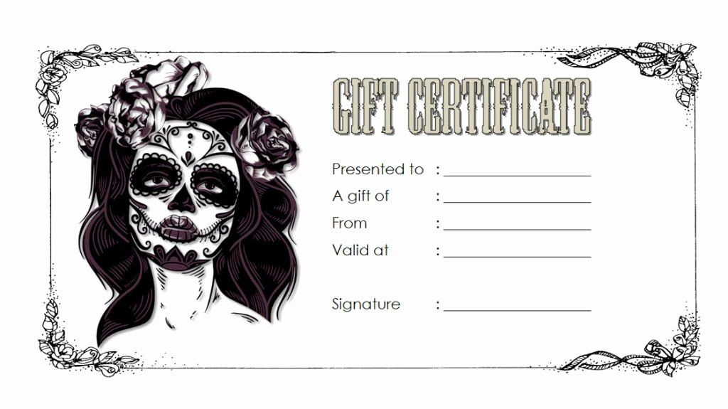 Tattoo Gift Certificate Template Inspirational Tattoo Gift With Tattoo Gift Certificate Template