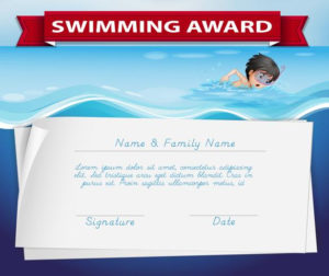 Template Of Certificate For Swimming Award Download Free With Regard To Swimming Award Certificate Template