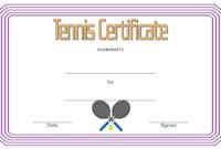 Tennis Award Certificate Template Free 1 In 2020 Pertaining To Tennis Gift Certificate Template