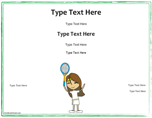Tennis Certificate Template Free (1) Templates Example With Regard To Tennis Gift Certificate Template