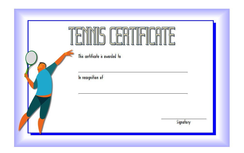 Tennis Certificate Template Free 2 In 2020 | Certificate Pertaining To Tennis Gift Certificate Template