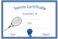 Tennis Gift Certificate Template 6 Best Templates Ideas For Quality Tennis Gift Certificate Template