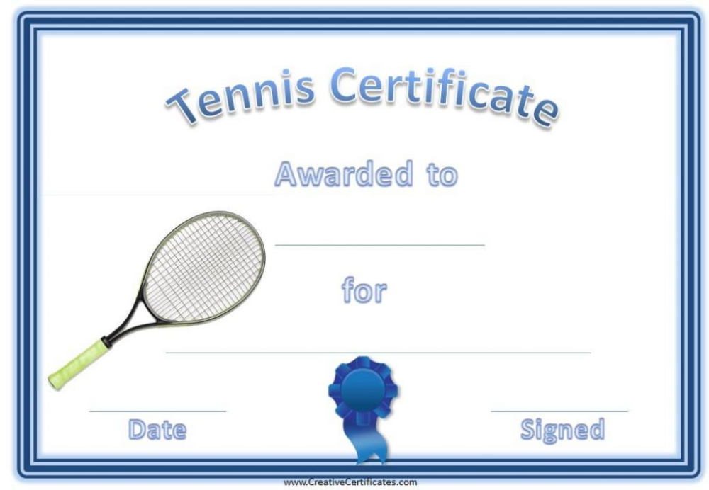 Tennis Gift Certificate Template 6 Best Templates Ideas For Quality Tennis Gift Certificate Template