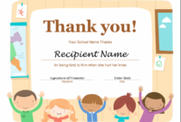 Thank You Certificate With Thanks Certificate Template