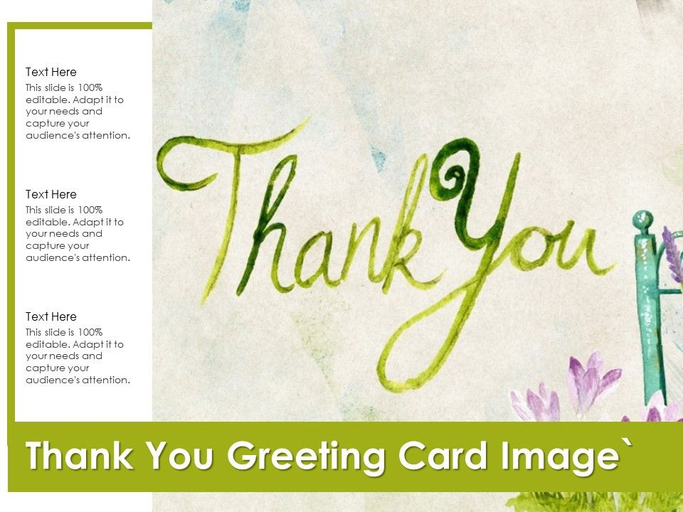 Thank You Greeting Card Image | Powerpoint Slide For Quality Greeting Card Template Powerpoint