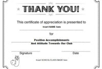 Thanks Certificate Template In 2020 | Certificate Of Regarding Thanks Certificate Template