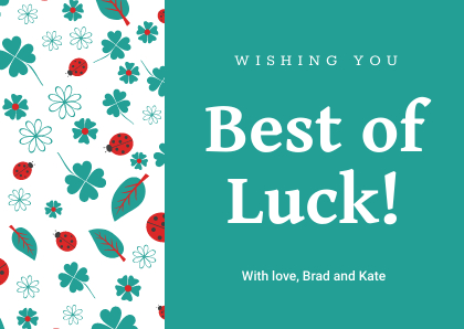 There'S A Card For That! 30+ Greeting Card Templates You Can Pertaining To Good Luck Card Template