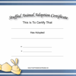 This Free, Printable, Stuffed Animal Adoption Certificate Is Within Toy Adoption Certificate Template