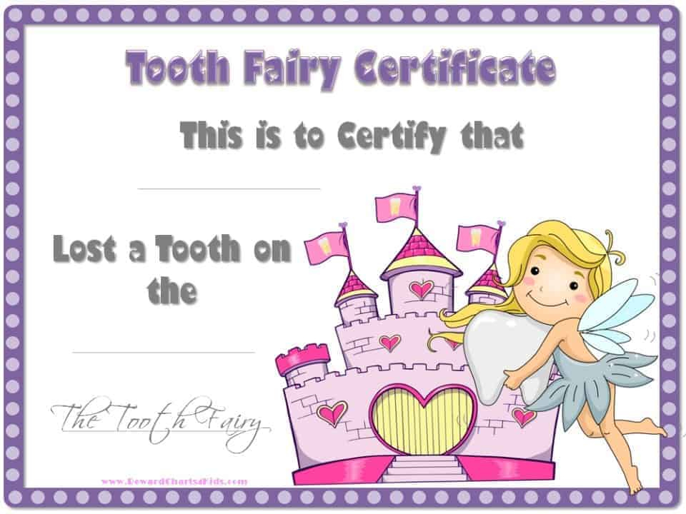 Tooth Fairy Certificate Intended For Tooth Fairy Certificate Template Free