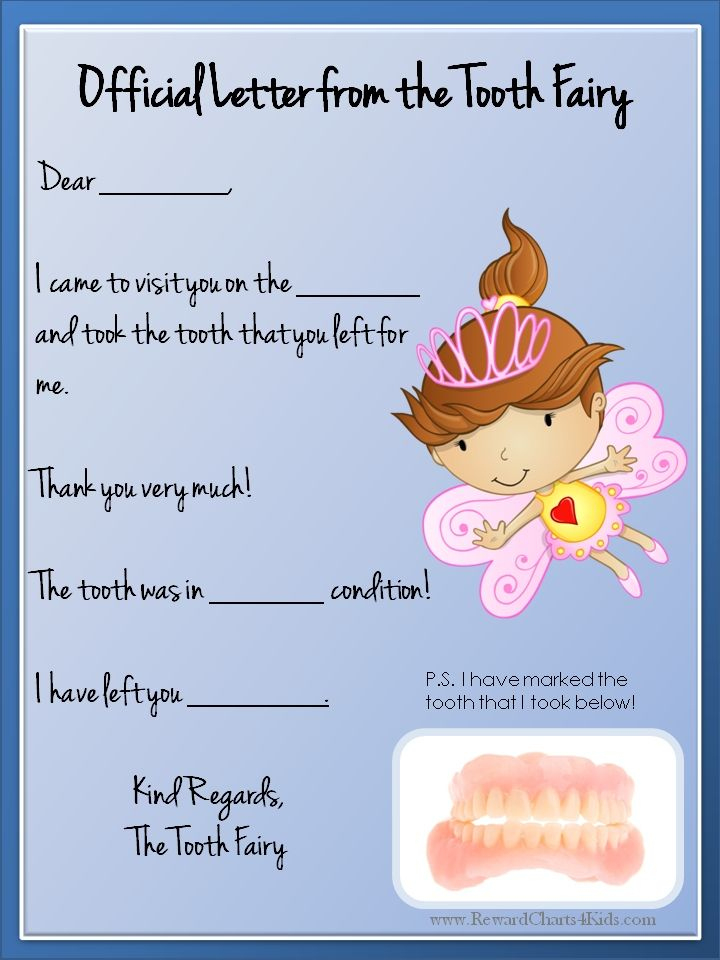 Tooth Fairy Letter   Tooth Fairy Letter Template, Tooth For Tooth Fairy Certificate Template Free