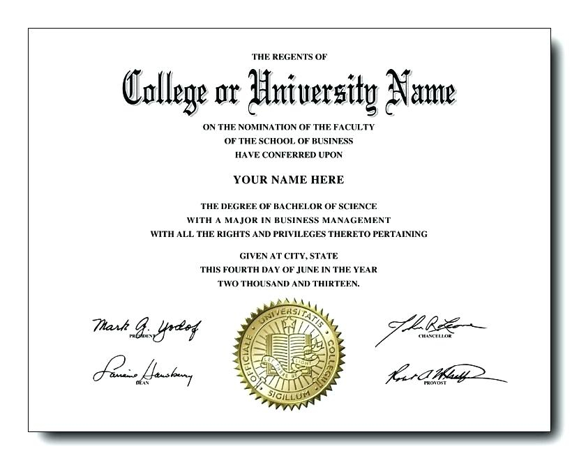 University Graduation Certificate Template (5) Templates Within College Graduation Certificate Template