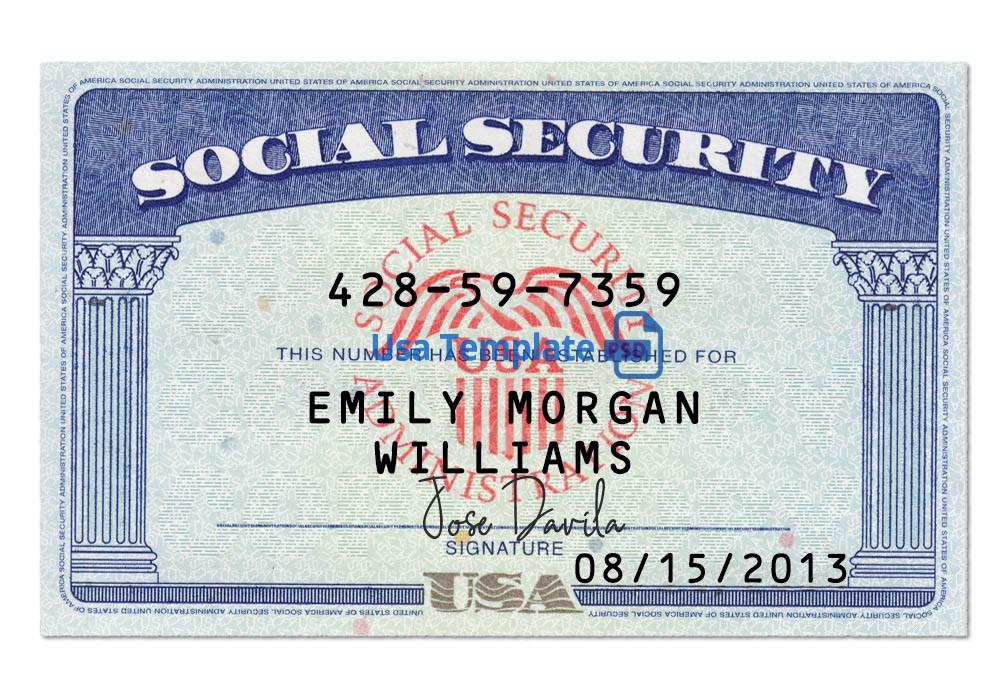 Usa Social Security Card Psd Template: Ssn Psd Template Regarding 11+ Fake Social Security Card Template Download