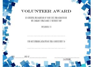 Volunteer Of The Year Certificate Template (3) Templates Within Volunteer Of The Year Certificate Template