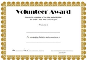 Volunteer Of The Year Certificate Template (4) Templates Throughout Volunteer Of The Year Certificate Template