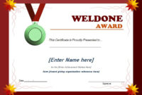 Well Done Award Certificate Template   Word & Excel Templates Regarding Award Certificate Templates Word 2007