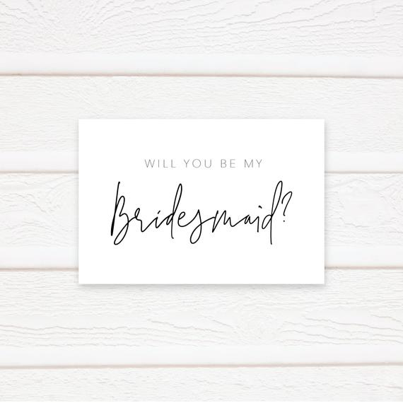 Will You Be My Bridesmaid Card, Printable Bridesmaid Card Template, Printable Card To Bridesmaid, Pdf Instant Download Throughout Will You Be My Bridesmaid Card Template