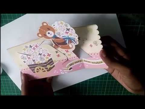 Wishing Teddy Bear Pop Up Card [D.i.y.] [Free Template With Free Teddy Bear Pop Up Card Template Free