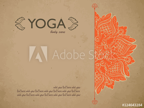 Yoga Gift Certificate Template With Mandala And Text Space With Printable Yoga Gift Certificate Template Free