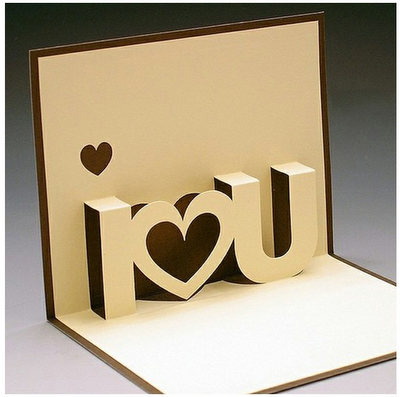 "You Can Tell Someone You Love Them ""Every Day"" ; ) Free Throughout I Love You Pop Up Card Template"